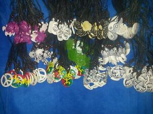 Enormous 1168 pc Lot Black String Necklace w/assorted Pendants