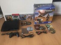 PS3 120GIG-MANETTE- UNCHARTED 1-2-3-JERICHO-145$