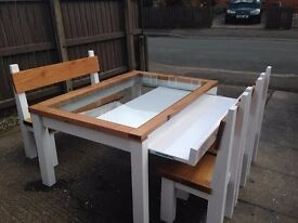 HAND MADE DRESSER UNIT,BEDS,COFFEE/DINING TABLES,SIDEBOARD,TV UNIT,GARDEN&PATIO BENCHES FROM £49 SEE