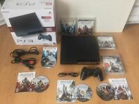 Ps3 160 gig complete- manette dualchock-Assasssins Creed- 150$
