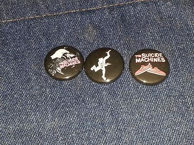 "The Suicide Machines set of 3 1"" inch button pin back punk ska"