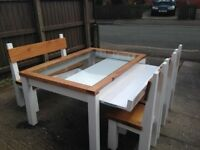 ANY HAND MADE TIMBER DINING/COFFEE TABLES,BEDS,TV UNIT,DRESSERS,CHAIRS,GARDEN/PATIO BENCH FROM £49