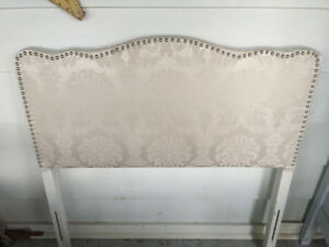 Beautiful vintage upholstered headboard