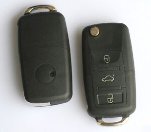 3-Buttons-Remote-Shell-Key-Case-Fob-Flip-Blade-for-VW-Passat-Beetle-Jetta