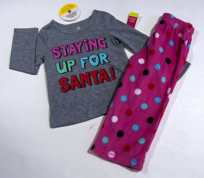 OKIE DOKIE NWT GIRL 3T PINK PAJAMAS PJS SLEEPWEAR STAYING UP FOR SANTA CHRISTMAS - Christmas Pajamas For Toddler Girls