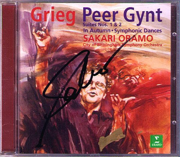 Sakari ORAMO Signed GRIEG Peer Gynt Symphonic Dances In Autumn CD Birmingham SO