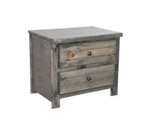 FREE delivery in Vancouver! Rustic Grey Two Drawer Nightstand! Brand New!