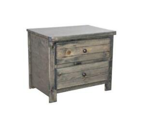 FREE delivery in Toronto! Rustic grey Two Drawer Nightstand! Brand New!