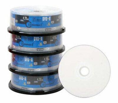 100x Intenso Rohlinge DVD+R bedruckbar inkjet 4,7 GB - 16x speed - in Cakebox (Dvd-r Bedruckbar)