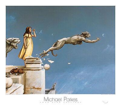 Michael Parkes Gargoyles  Fantasy Weird Odd Magical Print Poster  31.5x27.5 (Michael Parkes Drucke)