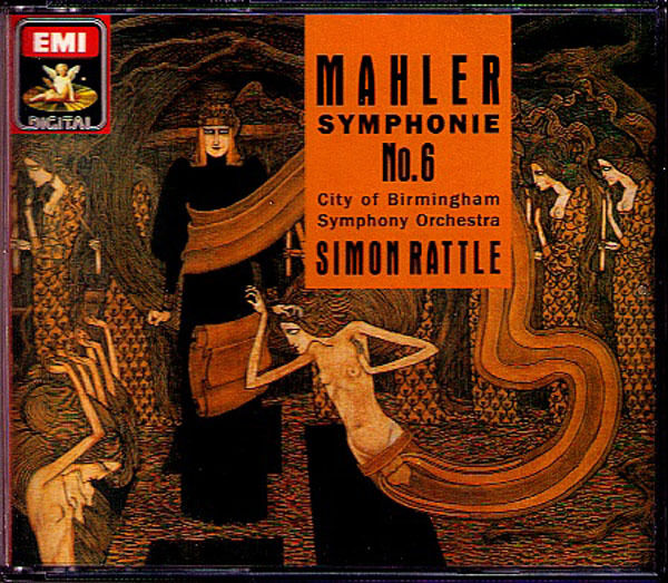 Sir Simon RATTLE: MAHLER Sinfonie Nr.6 Tragic EMI 2CD CBSO Birmingham Symphony