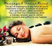 Therapeutic massage with reiki healing.