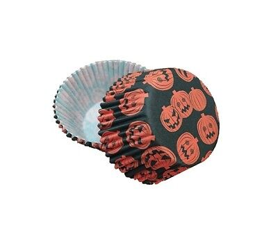 Bakell 25 PC Set of Halloween Pumpkin Cupcake Liners - Baking and Craft Tools ()