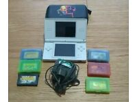Nintendo Ds Lite With 6 Advance Games