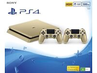 Gold PS4 limited edition. With Fifa 17