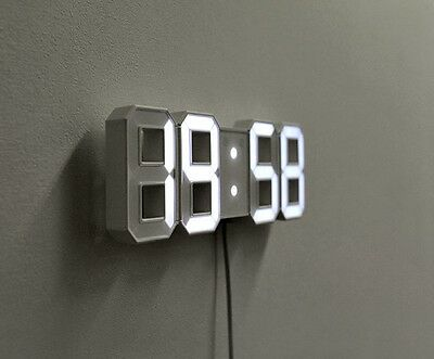 Home Decoration 3D Watch Digital Mini LED Modern Desk Wall Clock