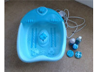 Foot spa with 3 changeable massagers plus body shop foot treatments