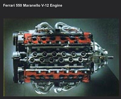 Ferrari 550 Marenello V-12 Engine Factory Car Poster Extremely Rare! Own It WOW! for sale  Shipping to Canada