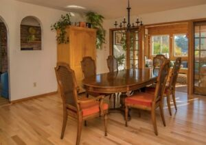 Dining Room Table, Chairs and matching China Cabinet