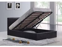 *XMAS SALE* TEXAS GAS LIFT STORAGE LEATHER BED FRAME + FREE QUILT £149