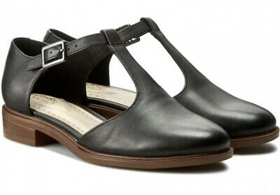 New Clarks Womens Black Taylor Palm Shoes UK 7 1/2 Mary Jane