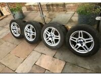 "15"" FORD FIESTA Star SPOKE MK7 8 ALLOY WHEELS & With TYRES 195/55/15 Alloys 4x 2"