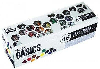 Liquitex BASICS Acrylic Paint Tube 48-Piece Set, New, Free Shipping