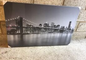 Brand new - New York skyline black & white printed canvas