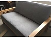 New 2 seater Solid Oak sofa bed by Futon Company!