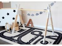 Gorgeous wooden baby gym