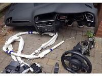 Audi a4 b8 black edition airbag kit dashboard flat bottom s line