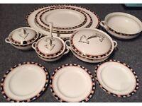 Antique Windsor Semi Porcelain Serving Set