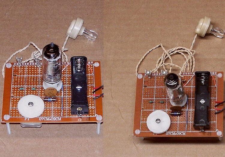 2 PCS = Low-Cost school science fair VACUUM TUBE AM radio re