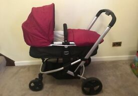 Mother care Xpedior travel system in plum.