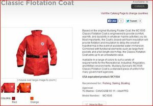 Sailing Gear; Mustang Floater Coat MC1501 - $65 OBO Windsor Region Ontario image 1