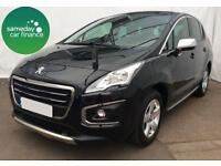 £262.47 PER MONTH BLACK 2014 PEUGEOT 3008 1.6 ALLURE 5 DOOR DIESEL AUTO WITH NAV