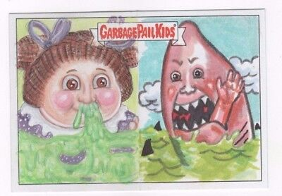 2017 Garbage Pail Kids Battle of the Bands sketch panoramic (b) Sobot Moreno for sale  Shipping to United Kingdom