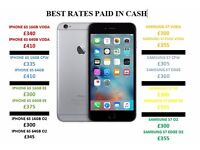 IPHONE WANTED, BEST RATES, CASH PAID INSTANT