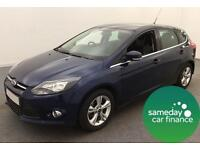 £141.75 PER MONTH BLUE 2012 FORD FOCUS TI-VCT 1.6 ZETEC 5 DOOR PETROL MANUAL