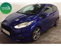 £229.47 PER MONTH BLUE 2014 FORD FIESTA 1.6ECOBOOST ST-2 3 DR PETROL MANUAL