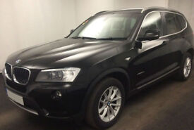 Black BMW X3 2.0TD Auto 2011 xDrive20d SE FROM £51 PER WEEK!