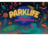 Parklife general admission tickets x2 with travel passes
