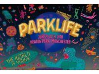 X1 Parklife weekend admission ticket 2018