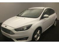 FORD FOCUS WHITE 1.5 TDCI 120 TITANIUM P/S HATCHBACK FROM £57 PER WEEK!