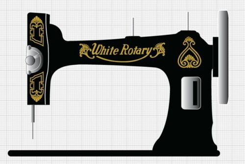 White Rotary Sewing Machine Restoration Decals Gold Metallic