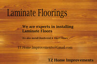Best Laminate Flooring Installers - TZ Renovations - low prices