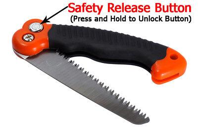 10.5-Inch Folding Mini Camping/Pruning Saw, Tripe Teeth Saw Blade Survival Fire