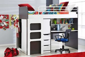 Harvey Norman Oxford bunk loft single bed with workstation desk Wollongong Wollongong Area Preview