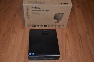 i5 HP desktop with new NEC monitor in the box, LapTop for free