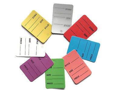 Clothing Tags Labels - 8 Color 100 pcs One Part Price Coupon Tag Clothing Price Tagging gun hang Label